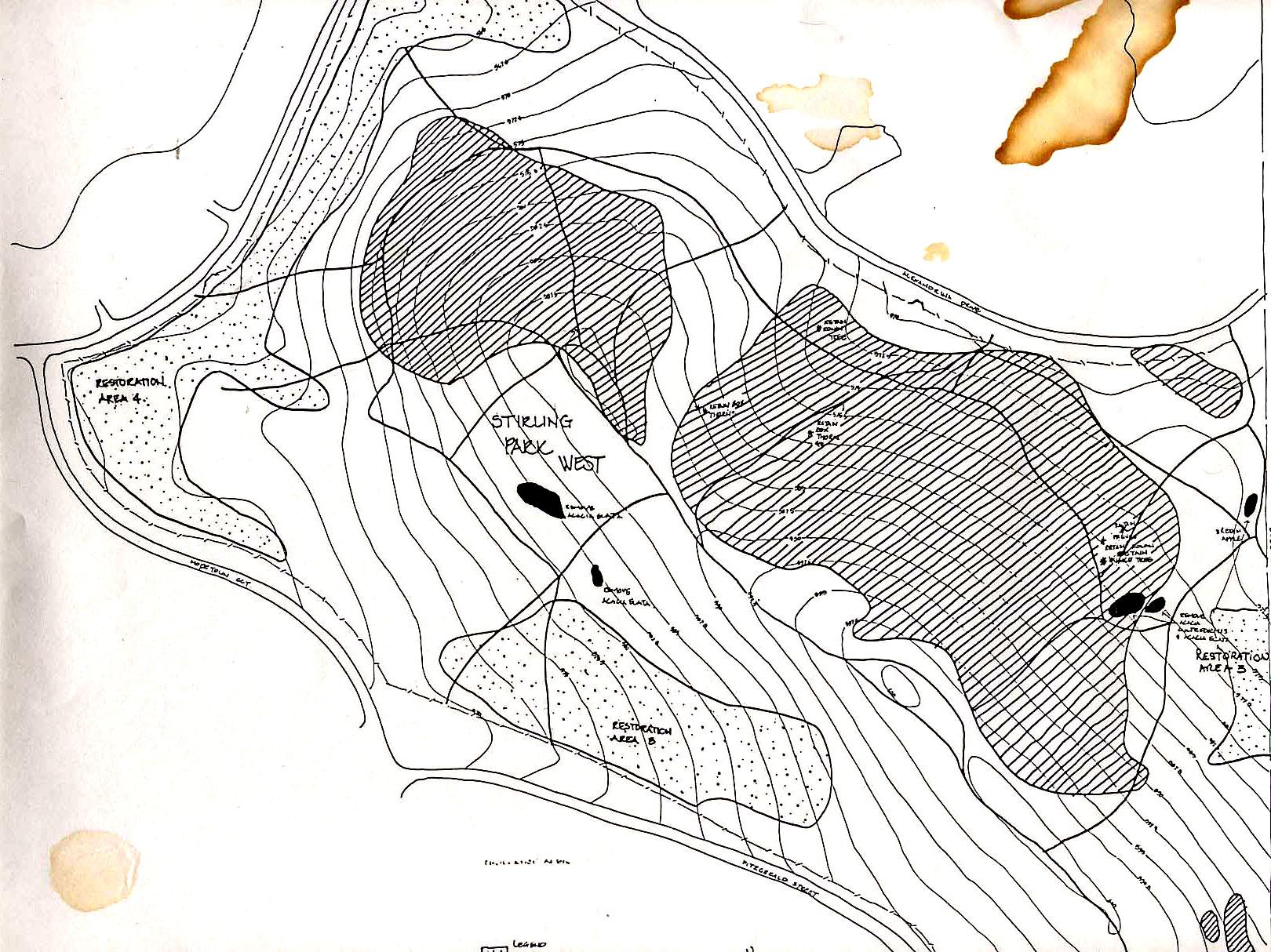 NCA map Stirling Ridge