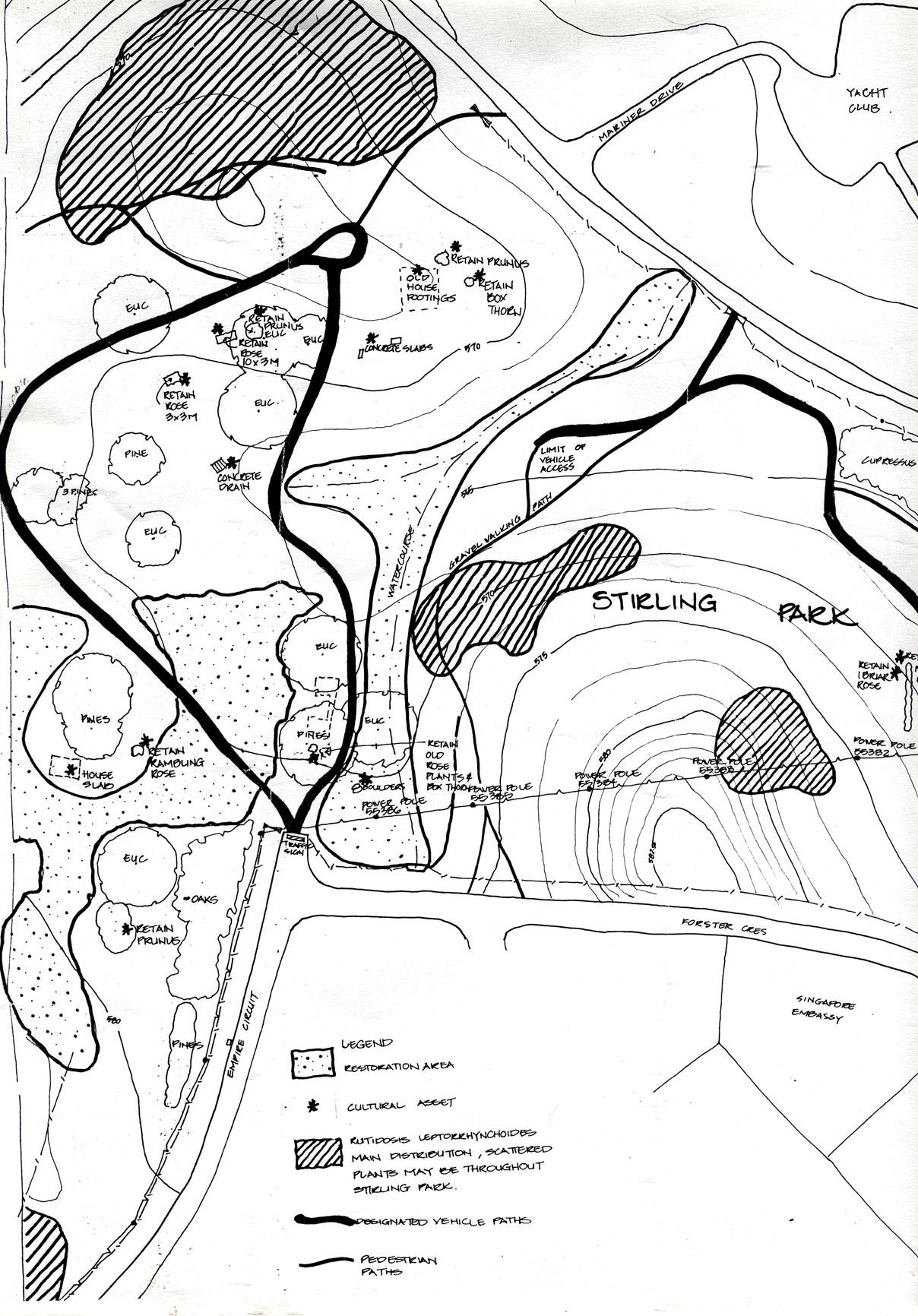 NCA map Stirling Park
