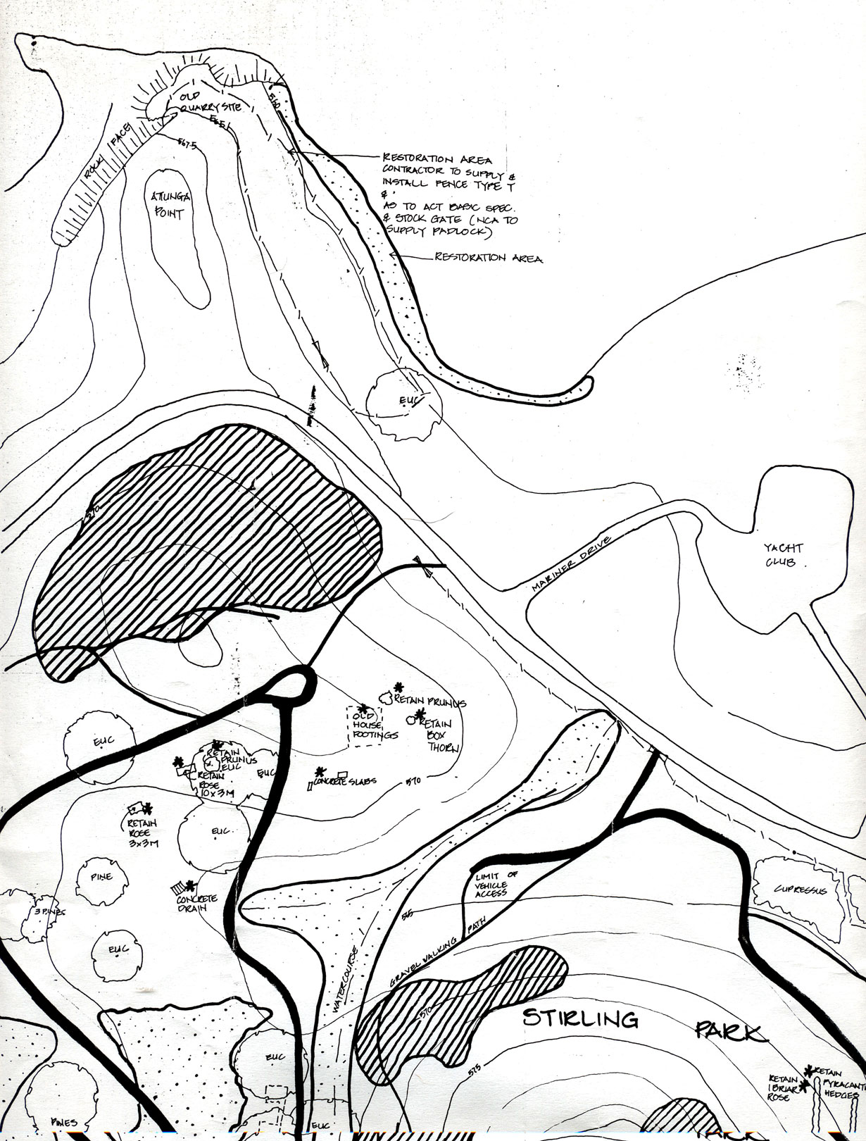 NCA Map Stirling Park